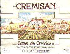 Cremisan wine label