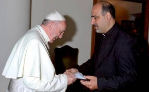 Shomali and Pope Francis