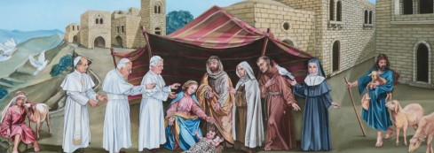artwork of Bethlehem for teh Pope's visit